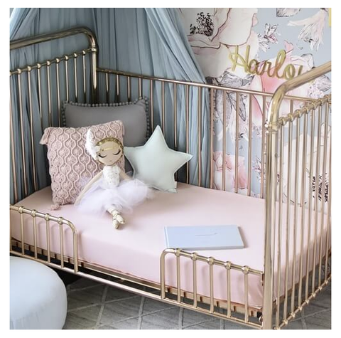 SNUGGLE HUNNY | Lullaby Pink Fitted Cot Sheet