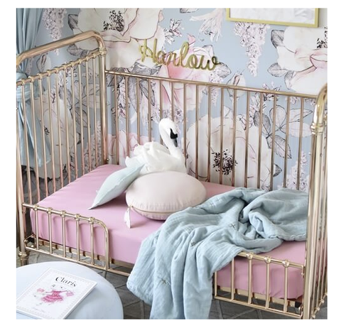 SNUGGLE HUNNY | Rouge Pink Fitted Cot Sheet