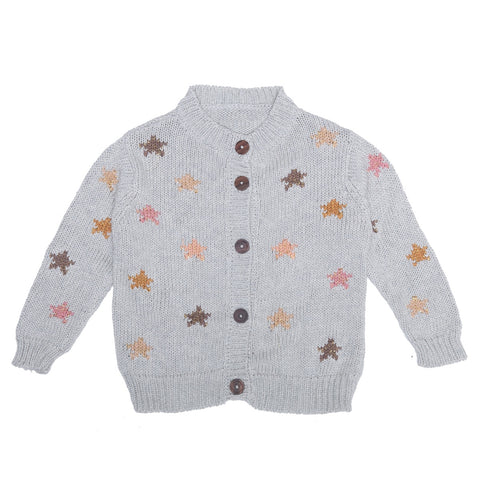 ALEX & ANT | Starry Nights Cardigan - Silver Moon