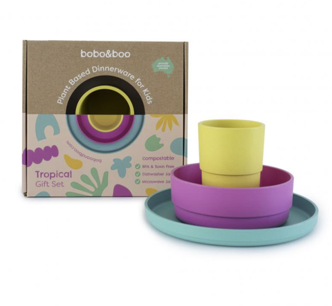 BOBO & BOO | Plant Based Dinnerware Set - Tropical