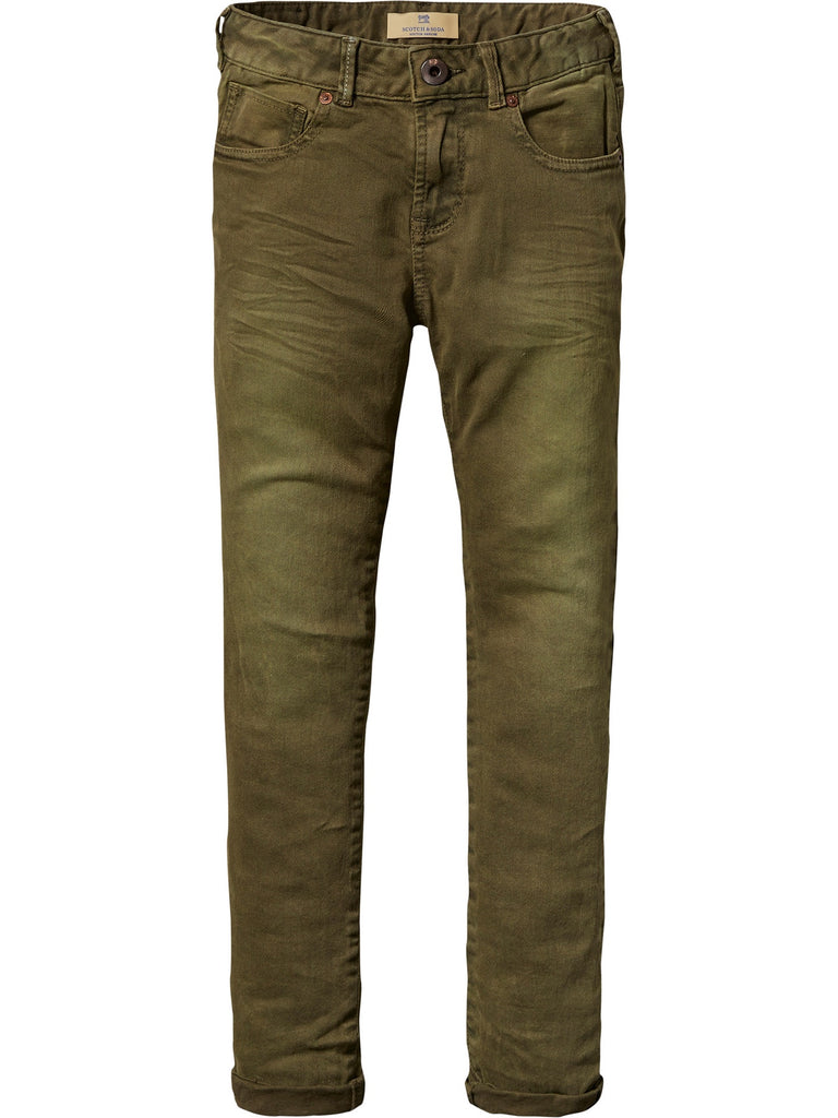 SCOTCH SHRUNK - Skinny 5 Pocket Pant Military 101076