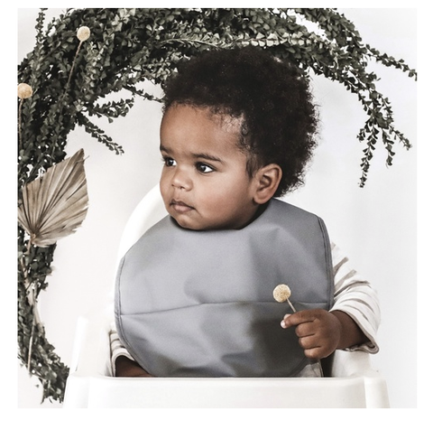 Snuggle Hunny | Grey Snuggle Bib Waterproof