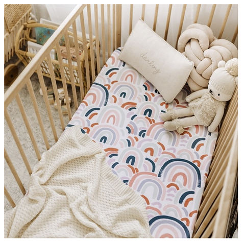 SNUGGLE HUNNY | Rainbow Baby Fitted Cot Sheet (4439545020476)