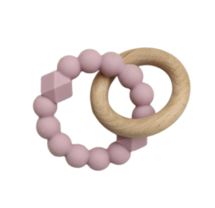 JELLYSTONE DESIGNS | Moon Teether Mauve
