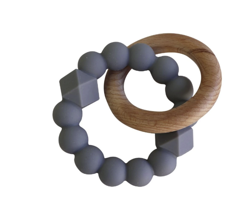 JELLYSTONE DESIGNS | Moon Teether Grey