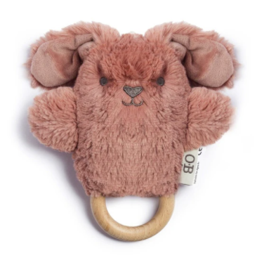 OB DESIGNS | Bella Bunny Baby Rattle & Teething Ring