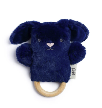 OB DESIGNS | Bobby Bunny Baby Rattle & Teething Ring