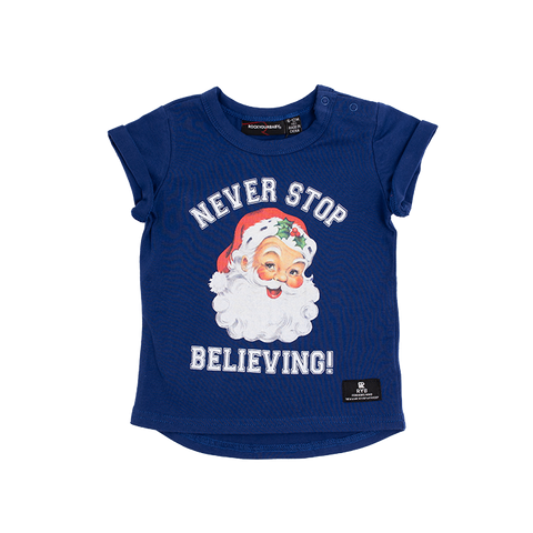 RYB *CHRISTMAS COLLECTION* | Baby Never Stop Believing Tee (4321258045500)