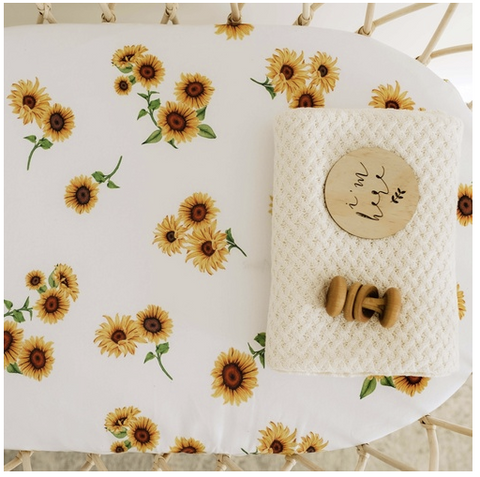 SNUGGLE HUNNY | Sunflower Bassinet Sheet/Change Pad Cover