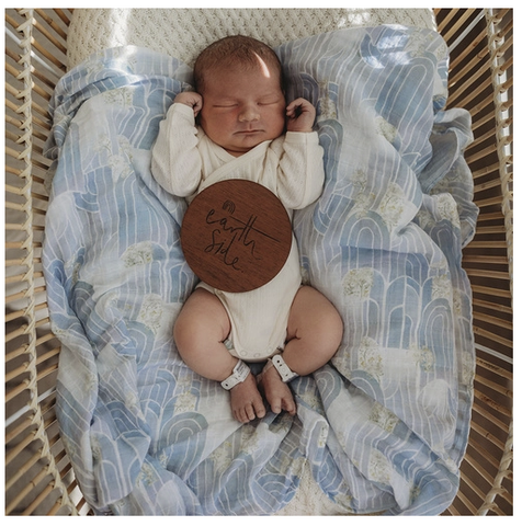 SNUGGLE HUNNY | Eventide Miss Kyree Loves Organic Muslin Wrap