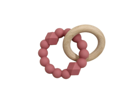 JELLYSTONE DESIGNS | Moon Teether Dusty Pink