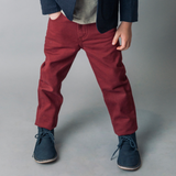 LOVE HENRY W19 - Boys Chino Pants Maroon (2527444467772)
