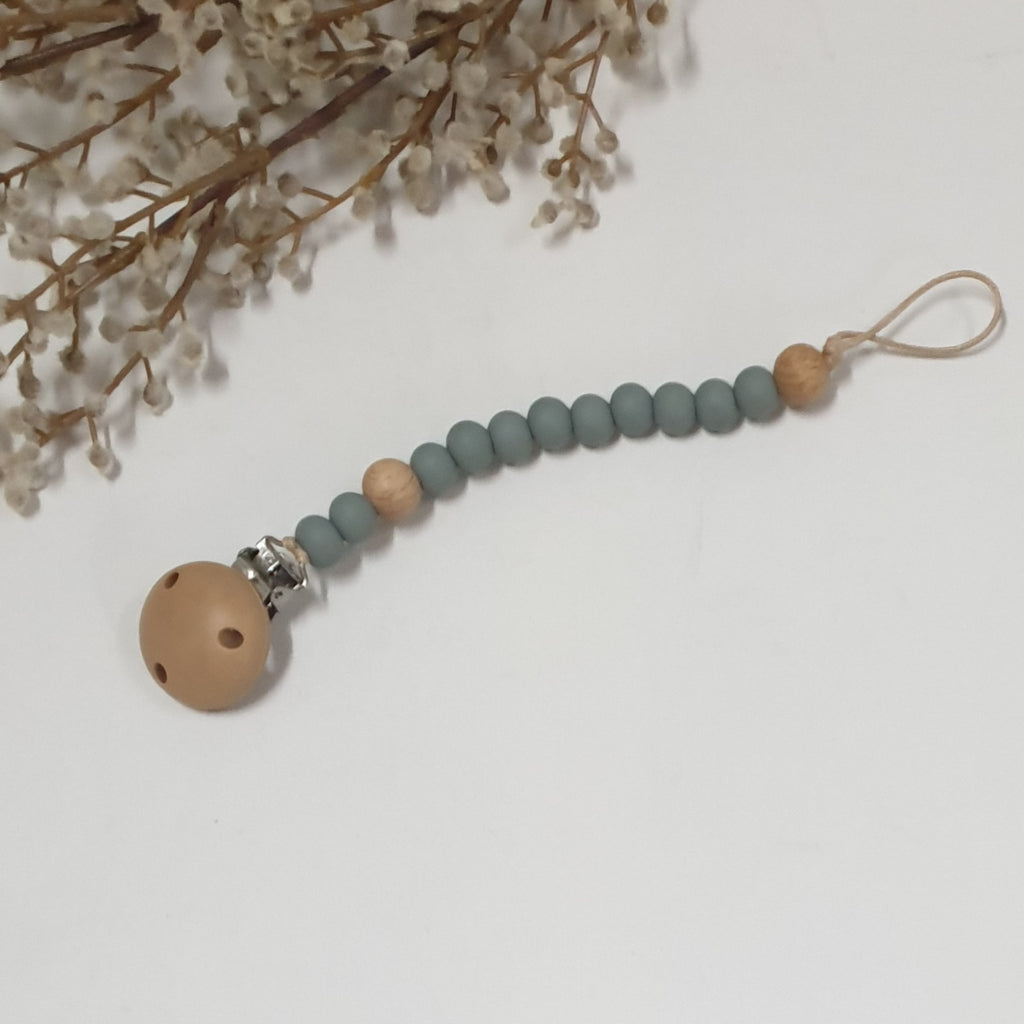 Dummy Clip Soother Chain | Dusk Blue