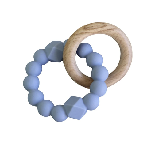 JELLYSTONE DESIGNS | Moon Teether Soft Blue