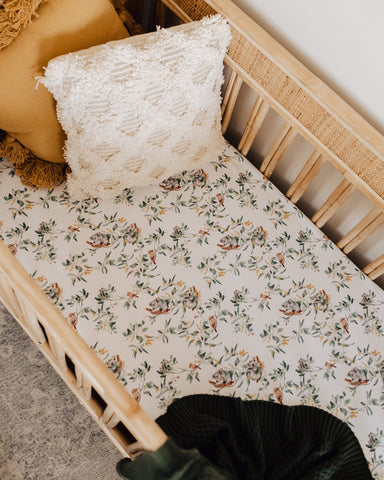 SNUGGLE HUNNY | Eucalypt Fitted Cot Sheet