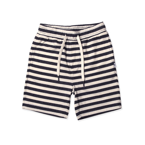 Minti | Hendrix Short - Washed Black Stripe