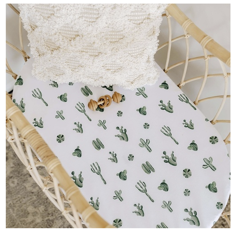SNUGGLE HUNNY | Cactus Bassinet Sheet / Change Pad Cover