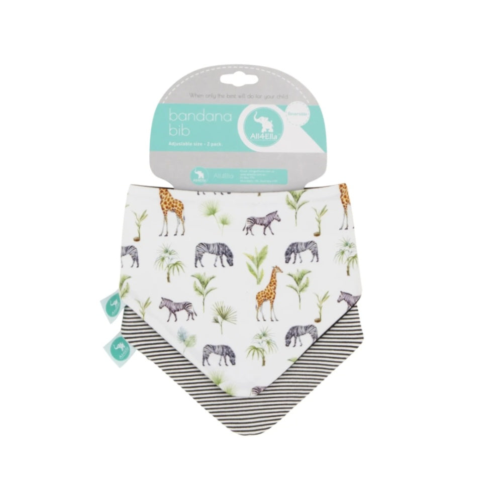 ALL4ELLA | Bandana Bibs 2pk - Safari