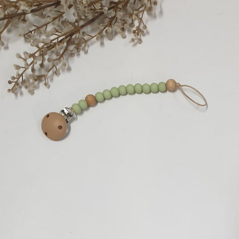 Dummy Clip Soother Chain | Moss