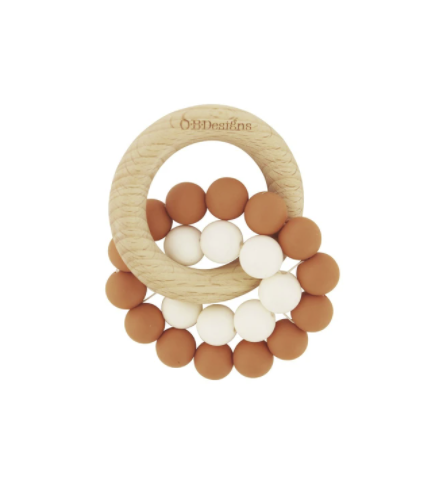 O.B DESIGNS | Eco-Friendly Teether - Cinnamon