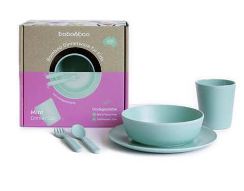 BOBO & BOO | Bamboo Dinnerware Set - Mint