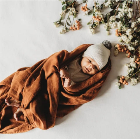 POP YA TOT | Rust Essential Swaddle
