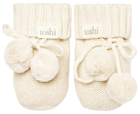 TOSHI | Organic Booties - Cream