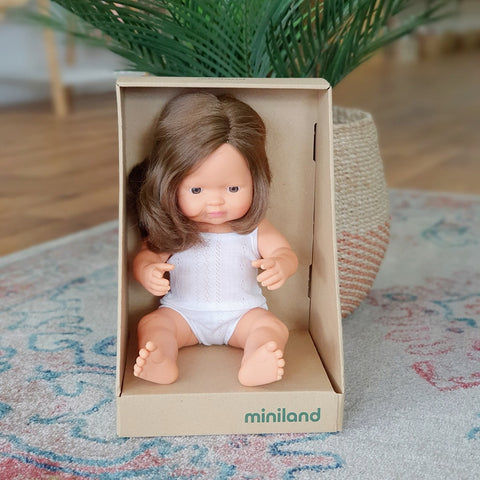 Anatomically Correct Caucasion Brunette Girl 38cm