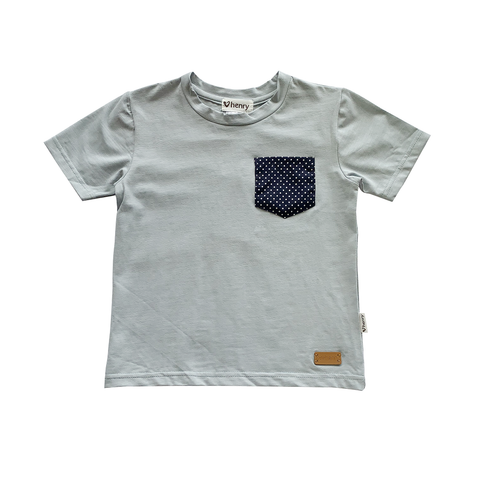 LOVE HENRY | Boys Pocket Tee - Duck Egg