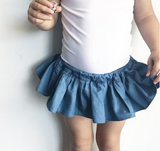 Little Hearts - Chambray Tutu Skort