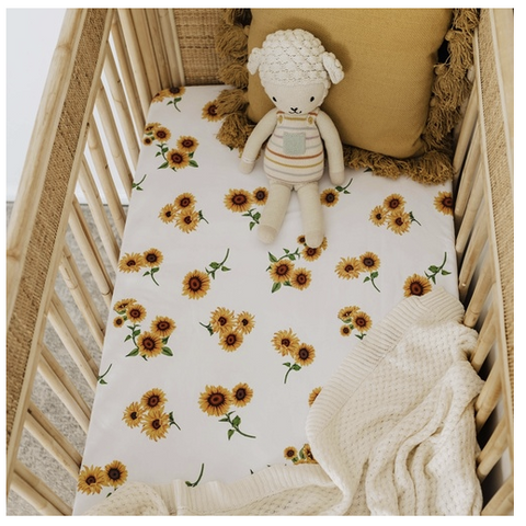 SNUGGLE HUNNY | Sunflower Fitted Cot Sheet