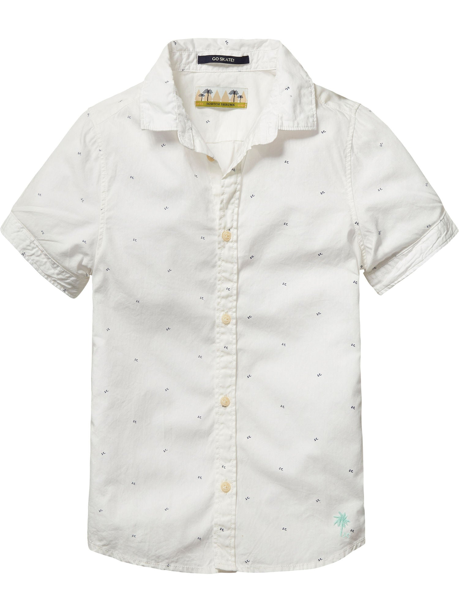 Street White Scotch Shirt Kids Shrunk – Cinnamon Basic 35uF1JclKT