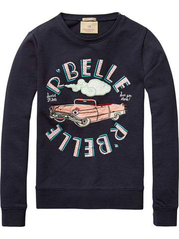 SCOTCH RBELLE  Crew Neck Sweat with Embellish (10887972494)