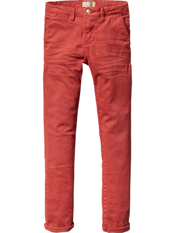 SCOTCH SHRUNK - Slim Fit Chino Pant Red 101074