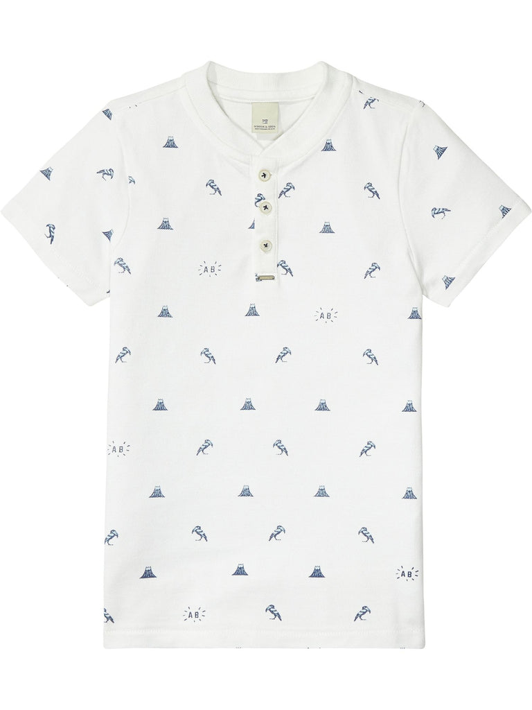 Scotch Shrunk - White Polo All Over Print