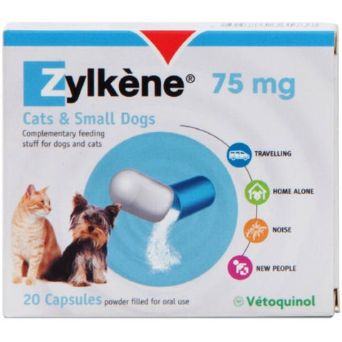 Zylkene for Small Dogs & Cats (20 x 75mg Capsules)