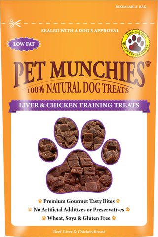 Pet Munchies Liver & Chicken Training Treats (50g)