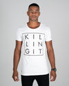 White Killing It Tee