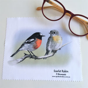 Microfibre Eyeglass Cleaning Cloth - Scarlet Robins