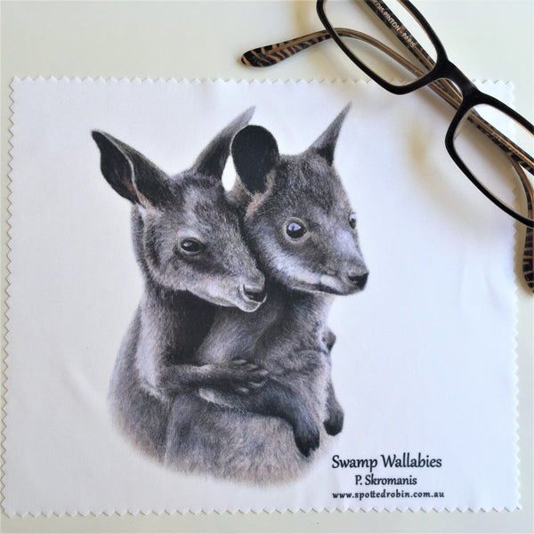 Microfibre Eyeglass Cleaning Cloth - Swamp Wallabies
