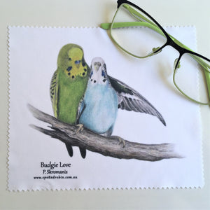 Microfibre Eyeglass Cleaning Cloth - Budgie Love