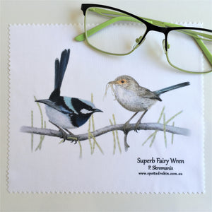 Microfibre Eyeglass Cleaning Cloth - Superb Fairy Wren Duo