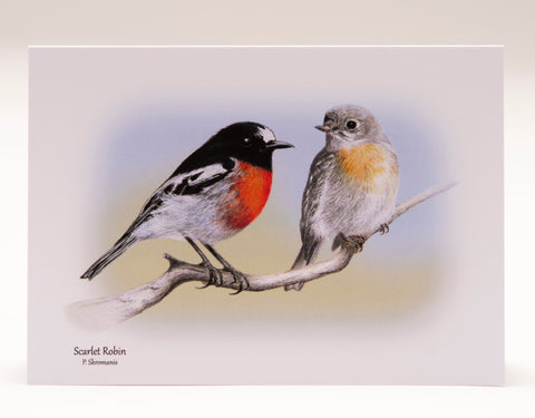 Greeting Card - Scarlet Robin Duo