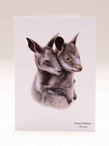 Greeting Card - Swamp Wallabies