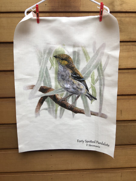Tea Towel - Forty-Spotted Pardalote