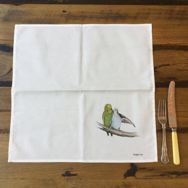 Budgie Love Cotton Dining Napkin