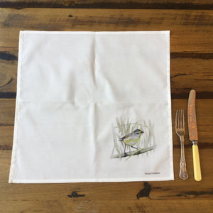 Cotton Dining Napkins - Striated Pardalote