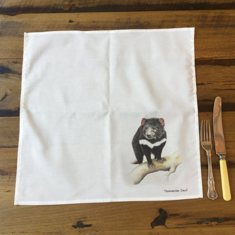Cotton Dining Napkins - Tasmanian Devil