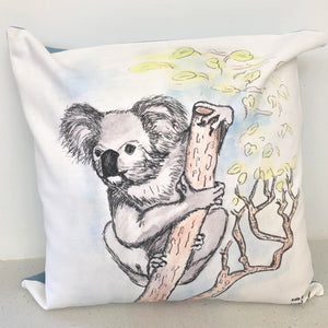 Kala the Koala image on our cushion cover.