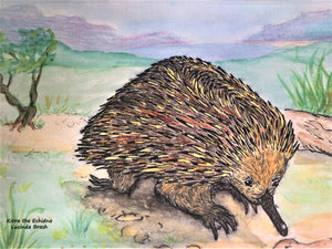 Tea Towel - Kirra the Echidna
